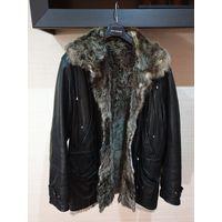 Куртка зимняя, на меху,натуральная кожа