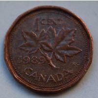 Канада, 1 цент 1989 г.
