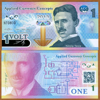 ACC (Applied Currency Concepts) - 1 Volt - 2013 - Polymer - UNC