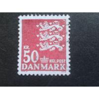 Дания 1985 герб Mi-2 евро гашеная