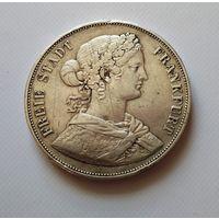 Германия,  ФРАНКФУРТ 2 талера 1861 г., серебро