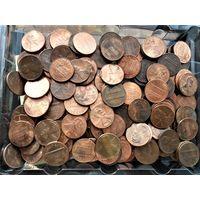 США 1 цент - 159 шт.+ Канада 1 цент-5 шт.