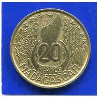 Мадагаскар 20 франков 1953 VF