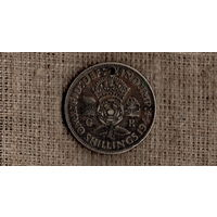 Великобритания 2 шиллинга 1944 /серебро/(Ji)