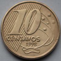 Бразилия, 10 сентаво 1998 г.