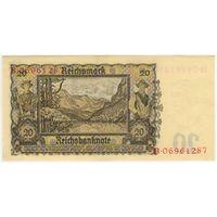 Германия. 20 Марок 1939 года. UNC серия В 06961287
