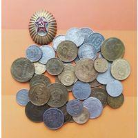Лот монет ранних Советов( 41 шт.). Сохран неважный!