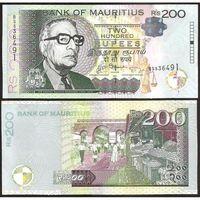 Маврикий 200 рупий образца 2013 года UNC p61b