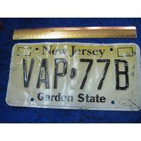 Автомобильный номер New Jersey