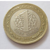Турция 1 лира 2009