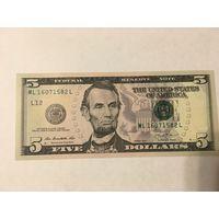 5 долларов сша 2013 год новые