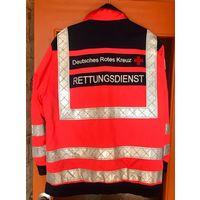 Немецкий Красный Крест. (L, XL) Утепленная форменная куртка. Зимняя, рабочая. Скорая помощь, спасатели. Со светоотражающими элементами