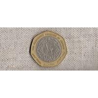 Иордания 1/2 динара 2000 /биметалл/(D)