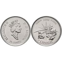 Канада 25 центов 2000 Мудрость UNC