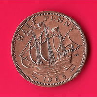 05-01 Великобритания 1/2 пенни 1964 г.