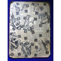 Старинный коллаж из гравюр, текста и букв