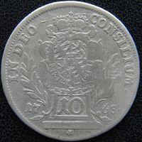 YS: Германия, Бавария, 10 крейцеров 1768, Мюнхен, серебро, КМ# 526.1