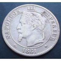 Франция. 2 сантима 1861