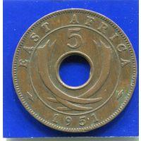 Британская Восточная Африка 5 центов 1951 Н
