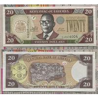 Распродажа коллекции. Либерия. 20 долларов 2011 года (P-28g - 2003-2011 Issue)