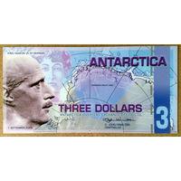 Антарктика 3$ 2008г -UNC-