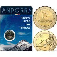 2 евро 2017 Андорра 150 лет Страна в Пиренеях BU