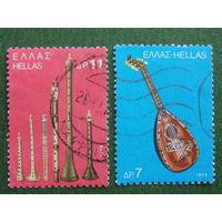 Греция 1975г. Муз. инструменты.