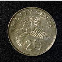 Сингапур 20 центов 1986
