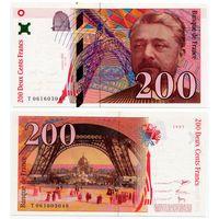 Франция. 200 франков (образца 1997 года, P159b, UNC)