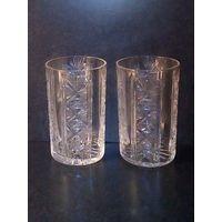 Два хрустальных стакана СССР 250 мл