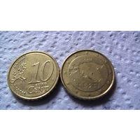 Эстония 10 евроцентов 2011г. распродажа