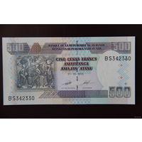 Бурунди 500 франков 2013 UNC