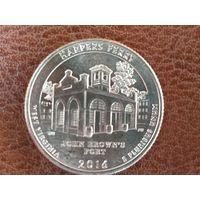 1/4 доллара 2016 США ( Национальный исторический парк Харперс Ферри ) D