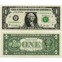 США. 1 доллар (образца 2013 года, E, Вирджиния, P537, UNC)