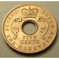 Британская Восточная Африка. 5 центов 1963 год  KM#37