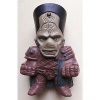 Игрушка из МакДональдса. Фараон, жрец. Высота 8,2 см. Резиновая.