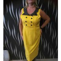 Платье желтое 54-56 размер