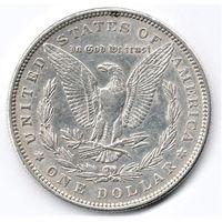 Морган доллар 1880 года серебро частичный блеск