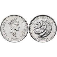 Канада 25 центов 2000 Изобретательность UNC
