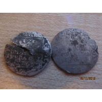 Грош серебром 1766, 1767гг (2шт)