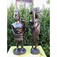Африканские Статуэтки Зуульских Племен из Чёрного Эбенового Дерева (около 150 н.э.)