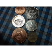 1,2,5,10,20,50 пенсов 2010,2012 года Джерси (6 монет)