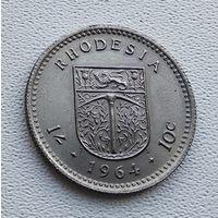 Родезия 1 шиллинг, 1964  7-3-14