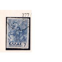 Греция-1935,(Мих. 377) гаш. , Лошади
