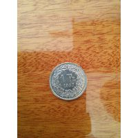 Швейцария. 1 франк 1957. Серебро.