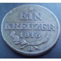 Австрия. 1 крейцер 1816 (В)