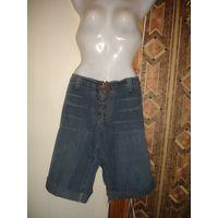 Новые из Испании Шорты джинсовые на шнуровке длинные р-р 46-48 в описании замеры