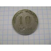 Вьетнам южный 10 донг 1970г.km8а