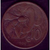 10 чентезимо 1925 год Италия