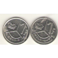 Пара: 1 франк 1990 г. Q: KM#170 и E: KM#171